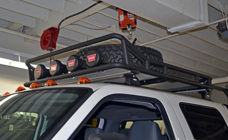sema f350 project bumper winch