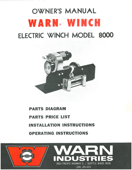 wiring diagram for warn 8274 winch oil furnace electrode adjustment the history of belleview industries go prepared m8000 flier circa 1972