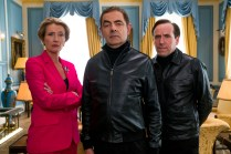Emma Thompson as Prime Minister, Rowan Atkinson as Johnny English and Ben Miller as Bough in JOHNNY ENGLISH STRIKES AGAIN, a Focus Features release.