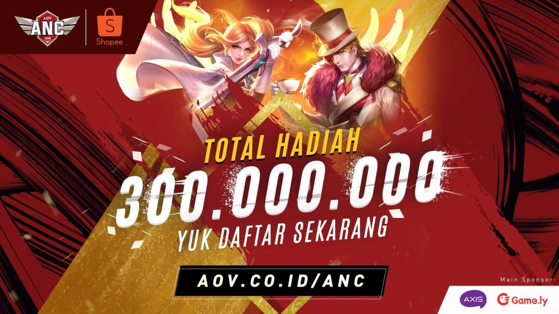Pendaftaran City Qualifiers AOV National Championship 2018 Season 2 Sudah Dibuka!