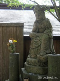 A Buddha ponders the Universe on the grounds of Nanzōin (August 2010)