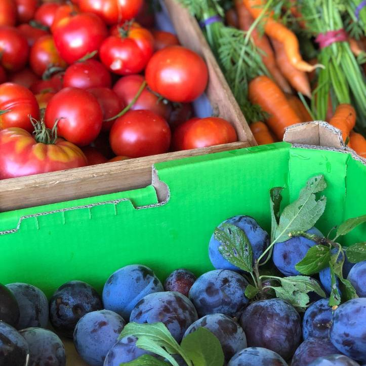 How lucky are we … beautiful organic produce