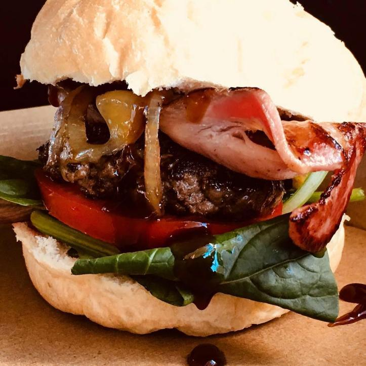 The 'Big Mamma' burger! Wrap your laughing gear around one of these babies on Saturday morning @burger_mamma