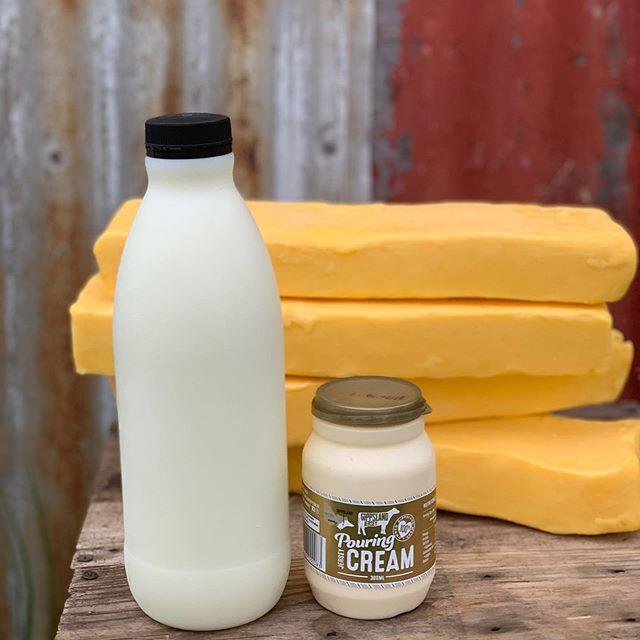Dairy Goodness!  Make your mushroom sauce with cream, marinate your chicken in buttermilk, dollop cultured sour cream on your chilli con carne and slather your butter thick on fresh bread!  Dairy is amazing – especially when it's made right here in Gippsland!  Milkshakes are back on too