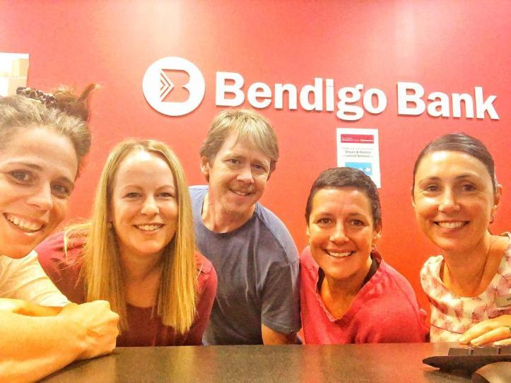 We 💚community banking  Big shoutout to Bendigo Bank Drouin for providing the grant for our market defibrillator (which we hope never have to use!). This morning we've popped into the Drouin branch to sign some papers.  See everyone next Saturday morning.  How nice is this summer rain