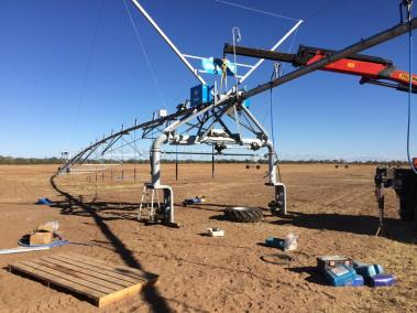 Retro fit GPS to existing Valley Pivot at Cunnamulla (1)