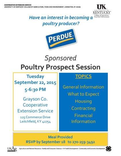 Poultry Prospect Program
