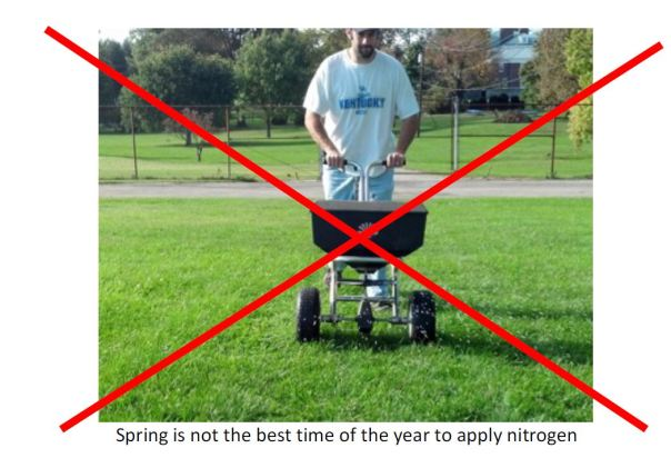 spring is not the ideal time to apply nitrogen