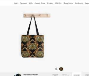 Golden Scarab Tote Bag