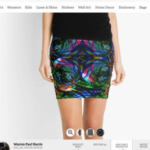 Vortex Neon Skirt