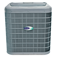 Carrier air conditioning unit from Warren Heating and Cooling.