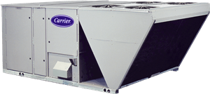 Carrier commercial air conditioning unit from Warren Heating and Cooling.