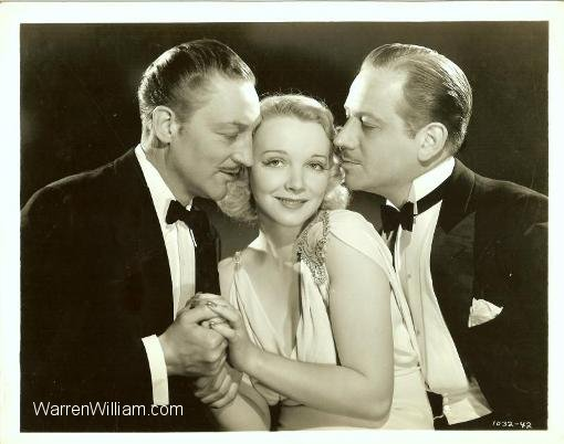 Warren William, Virginia Bruce and Melvyn Douglas in Arsene Lupin Returns