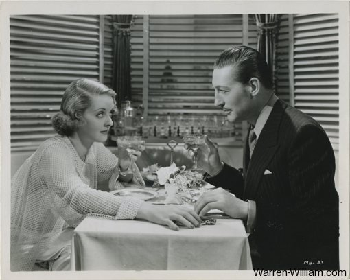 Bette Davis and Warren William in Satan Met a Lady, 8x10 Still Photo