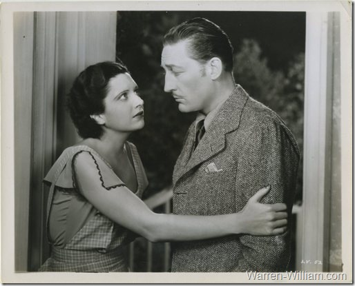 Warren William with Kay Francis in Living on Velvet