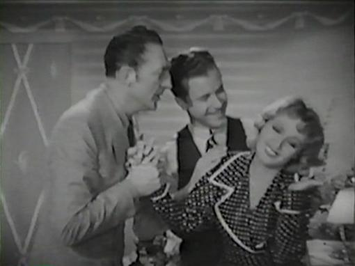 Warren William, Dick Powell and Joan Blondell