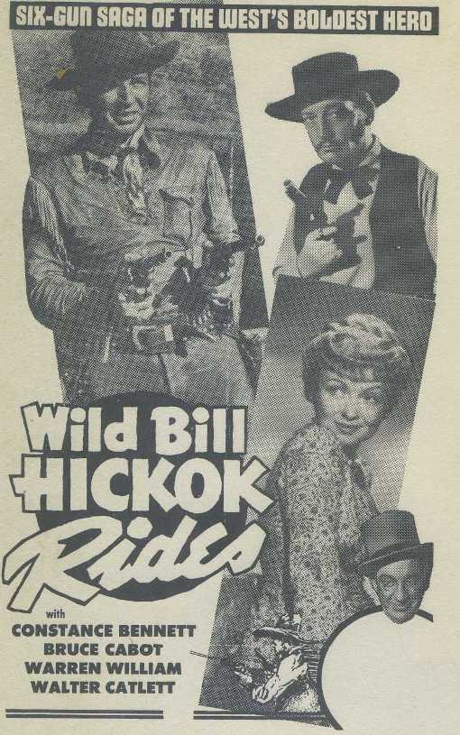 Ad for Wild Bill Hickok Rides
