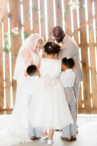 Family Blessing at Wedding Ceremony | Photo by Kaylie Plummer Photography