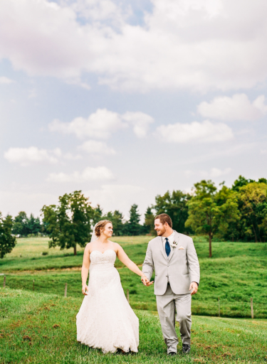 Bride & Groom at Kentucky Farm Wedding