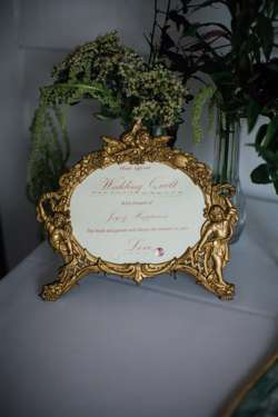 Guestbook sign in gold vintage sign