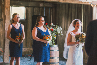 Refined Rustic barn ceremony