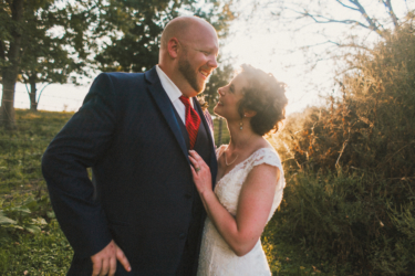 Portrait of Bride and Groom at Warrenwood Manor, photo by Cassie Lopez Photography