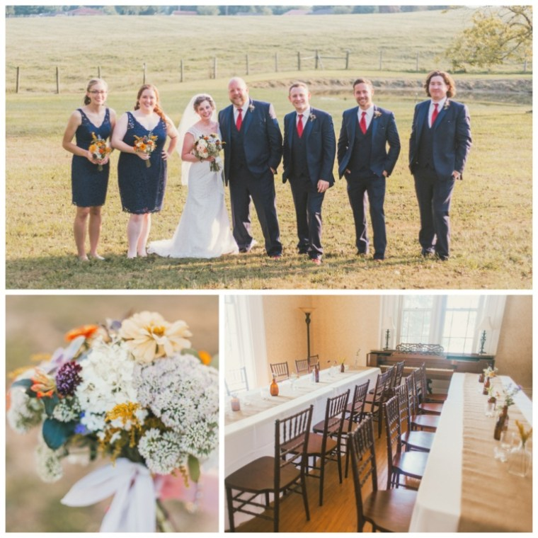 Event Styling: Summer barn wedding with wild flowers and rustic details. Photographed by Cassie Lopez Photography