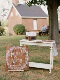 Guestbook Table with Kentucky shaped wooden guestbook