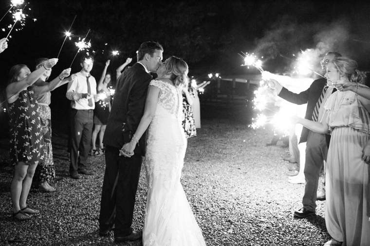 Sparkler Sendoff from Timelessly Romatic Southern wedding at Warrenwood Manor