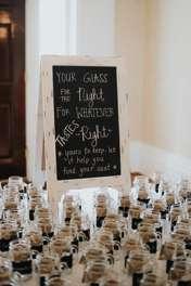Wedding decor- mason jar glasses for wedding reception