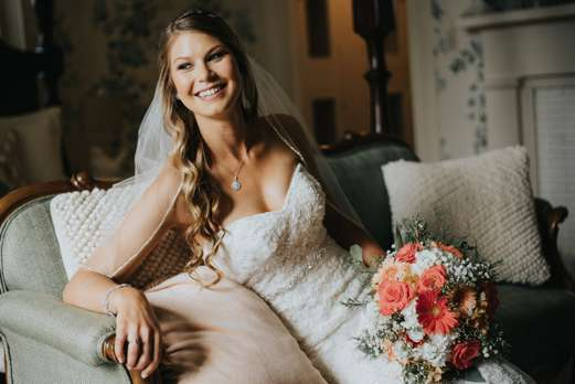 Bridal Portrait with southern charm and rustic elegance at Warrenwood Manor, a Kentucky wedding venue.