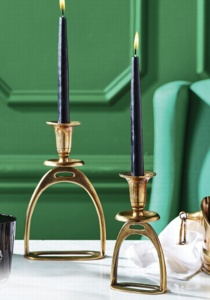 Stirrup Candle Holders from Horse & Hound