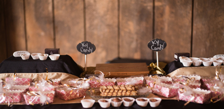 This Kentucky Candy Bar was done by Sassy Spoon Catering for a Warrenwood Wedding.