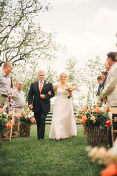 Bride and Father of the Bride entering ceremony at Warrenwood Manor