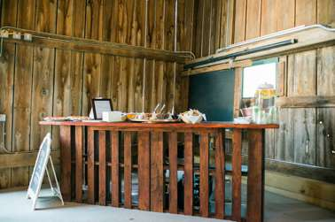 Pallet bar in Warrenwood Manor barn