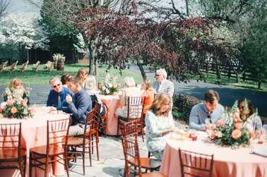 Summer spring outdoor wedding reception