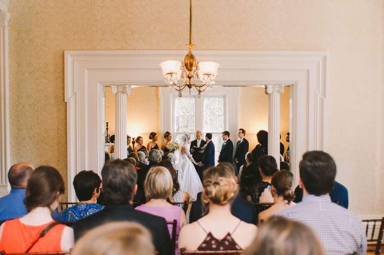 Indoor wedding ceremony in Warrenwood Manor