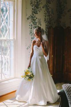 Sweetheart cut a-line wedding dress