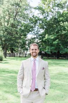 Groom at Kentucky farm estate wedding