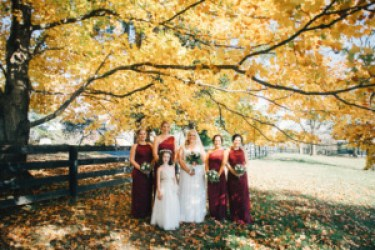 Burgundy bridesmaid dresses, Photo by Cassie Lopez Photography