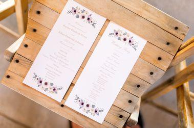 Floral wedding programs
