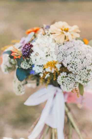 Wildflower mixed bouquet by Meadowview Farm, Photo by Cassie Lopez Photography