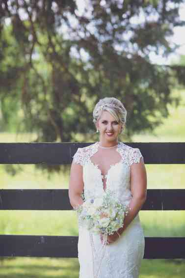 Vintage glam ivory bridal bouquet by Patriot Petals, Photo by Melissa G Photography