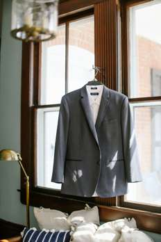 Grry Suit in grooms quarters of Warrenwood Manor