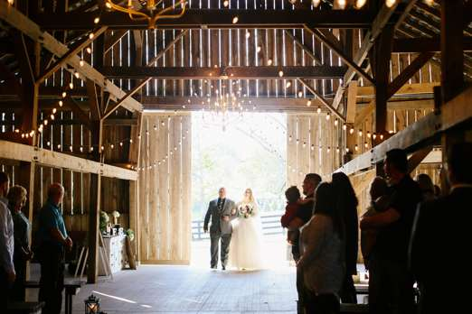 Rustic Elegant Fall Barn Wedding Ceremony