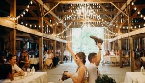Wedding Shoe Game, Photo by Brandi Potter Photography