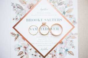 Wedding invitations with wedding rings