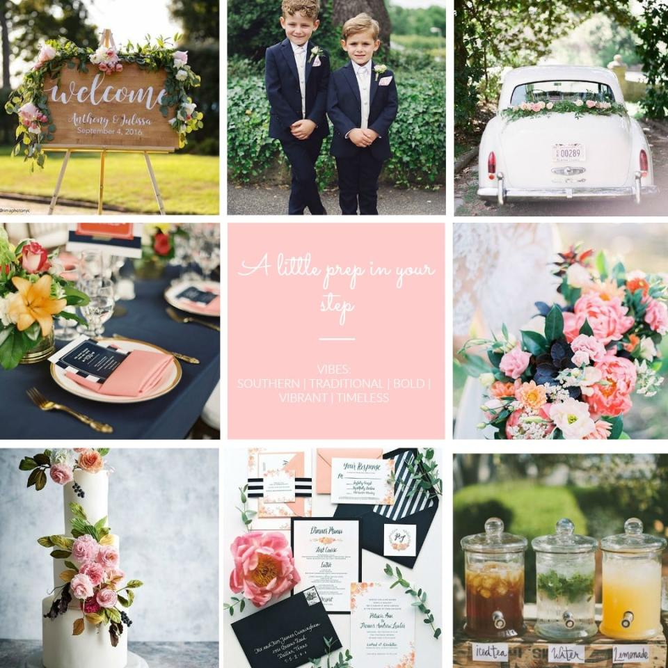 Preppy wedding southern traditional