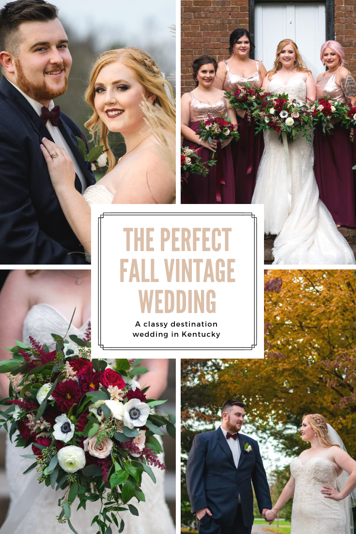 Classy Vintage Glam Wedding in the Fall