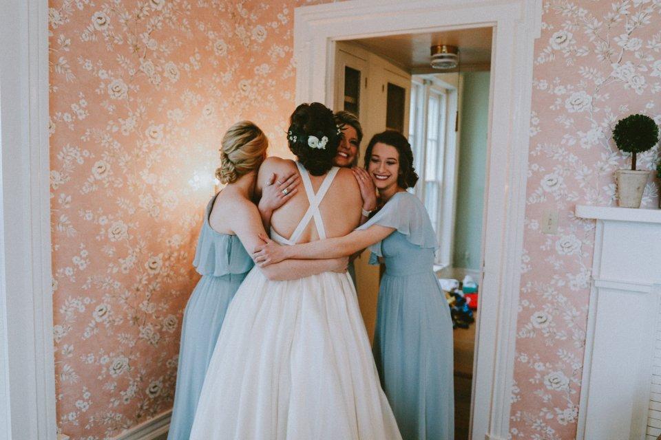 Bridesmaids at Vintage Spring Wedding - Warrenwood Manor -Kentucky Wedding Venue